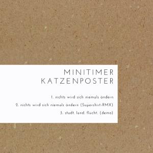 Neue Single von Minitimer Katzenposter